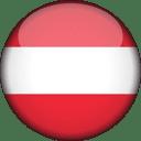 Austria Flag Round 3D Icon