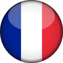 France Flag Round 3D Icon