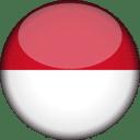 Monaco Flag Round 3D Icon
