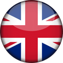 Britain Flag Round 3D Icon