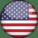 USA Flag Round 3D Icon