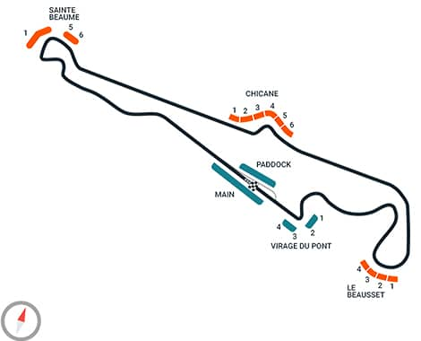 French Grand Prix Track Diagram