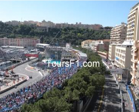 Monaco Grand Prix Turn with swimming pool in view