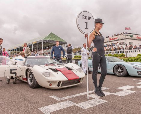 Goodwood Revival Starting Line with Girl