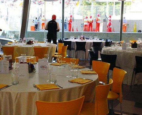 Italian Grand Prix Hospitality Food & Beverage Area