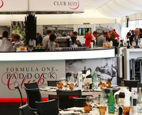 Paddock Club Hospitality Food & Beverage Area
