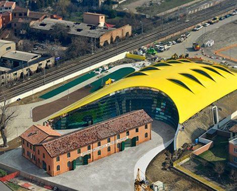 Enzo Ferrari Museum Aerial